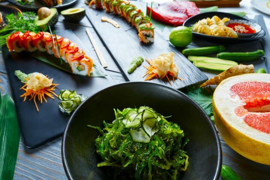 asparges sushi