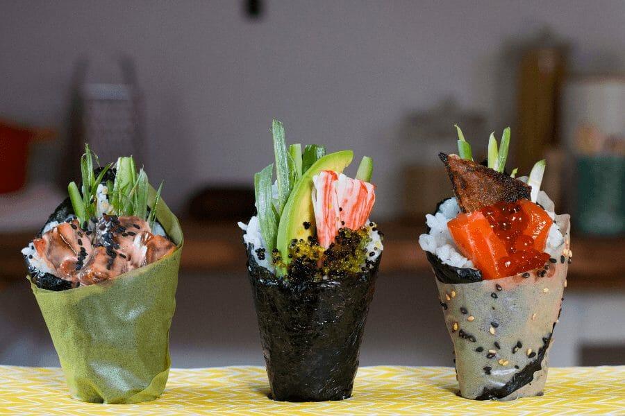 Temaki-Sushi-Rulle