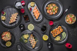 japanske ingredienser og sushi ordiste
