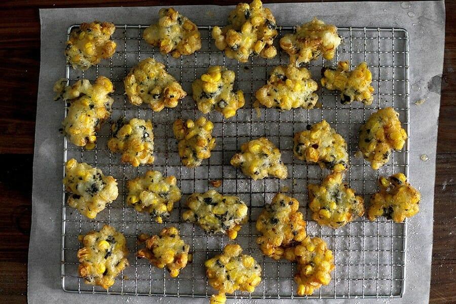 tempura tang som japansk snack