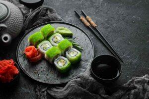 Grøn Wasabi Tobiko Maki Sushi