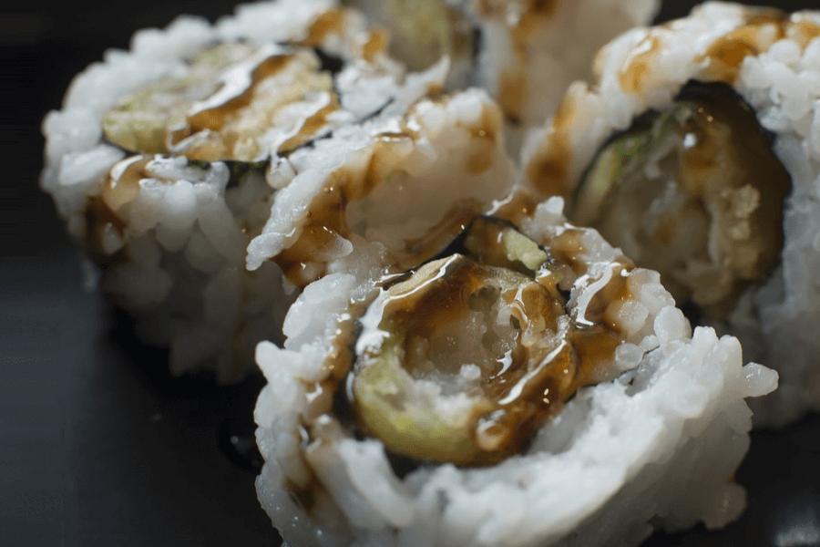 Saucer Og Tempura Sushi