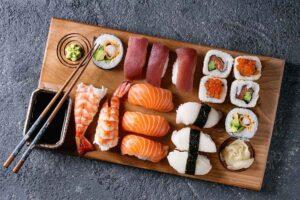 Hjemmelavet Sushi Nigiri Og Ruller