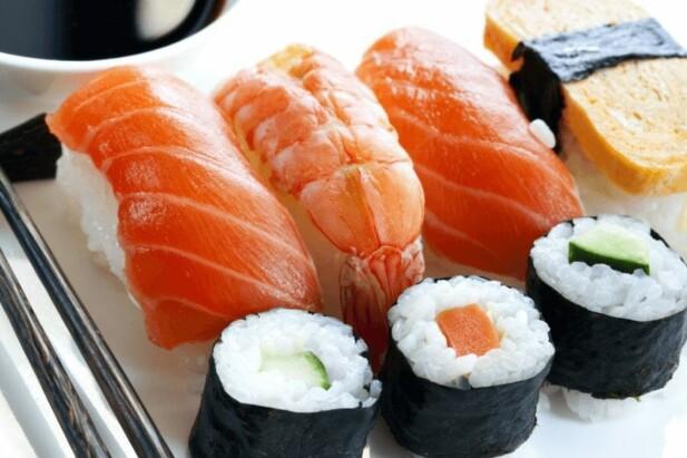 forskellige typer sushi